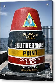 90 Miles Acrylic Print by Shane Rees