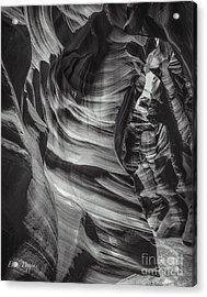 90116 Antelope Canyon Bw Acrylic Print