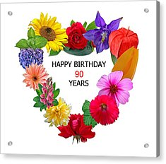 90th Birthday Acrylic Print
