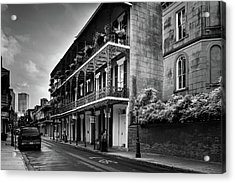 910 Royal Street In Black And White Acrylic Print by Greg and Chrystal Mimbs