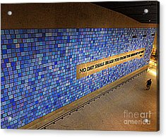 911 No Day Shall Erase You Acrylic Print by Randall Weidner