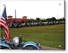 911 Ride Line Up Acrylic Print by Angela Murray