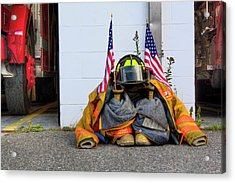 Acrylic Print featuring the photograph 911 Tribute IIi by Greg DeBeck