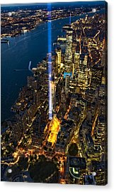 911 Tribute In Light Nyc Aerial View Acrylic Print