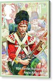 92nd Gordon Highlanders Acrylic Print