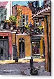 94  French Quarter Sunday Morning Acrylic Print by John Boles