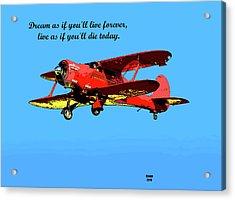Motivational Quotes Acrylic Print