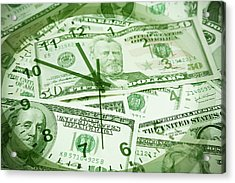 Acrylic Print featuring the photograph Time Is Money  by Les Cunliffe