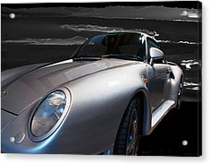 959 Porsche Acrylic Print by Paul Barkevich