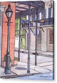 96  French Quarter Corner Of Royal Acrylic Print by John Boles