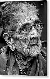 96 Year Old Indian Woman India Day Parade Nyc 2011 2 Acrylic Print