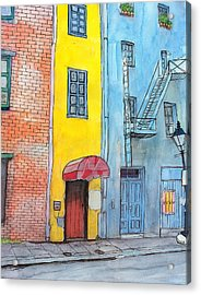 98  French Quarter Back Alley Acrylic Print by John Boles