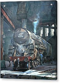 9f On Saltley Shed 1958. Acrylic Print by Mike Jeffries