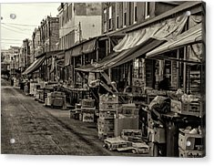9th Street Italian Market - Philadelphia Pennsylvania Acrylic Print by Bill Cannon