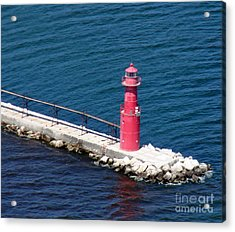 Acrylic Print featuring the photograph A-004 Algoma Lighthouse Wisconsin by Bill Lang