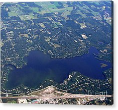 Acrylic Print featuring the photograph A-007 Altoona Lake Eau Claire Wisconsin by Bill Lang