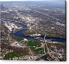 Acrylic Print featuring the photograph A-009 Appleton Wisconsin Downtown by Bill Lang
