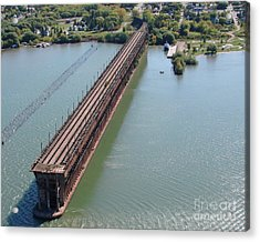 Acrylic Print featuring the photograph A-010 Ashland Wisconsin Ore Dock by Bill Lang