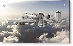 A-10 Thunderbolt II Acrylic Print by David Collins
