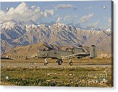 A-10 Warthog At Bagram Acrylic Print by Tim Grams