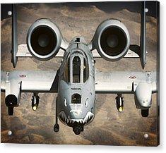 A-10 Warthog Power Acrylic Print by Daniel Hagerman