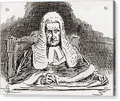 A 19th Century Old Bailey Judge. From Acrylic Print