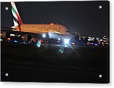 Emirates A380 Acrylic Print by Puzzles Shum