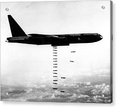 A B-52 Stratofortress Releases Bombs Acrylic Print by Everett