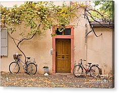 A Back Lane In Speyer Acrylic Print by Louise Heusinkveld