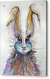 A Bad Hare Day Acrylic Print by Rosemary Aubut