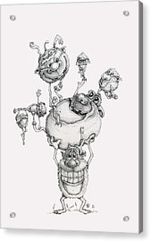 A Balancing Act Acrylic Print