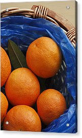 A Basket Of Oranges Acrylic Print by Steve Outram