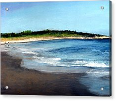 Acrylic Print featuring the painting A Beach In Smithfield by Cindy Plutnicki