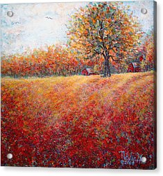 Acrylic Print featuring the painting A Beautiful Autumn Day by Natalie Holland