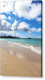 A Beautiful Day At Kailua Beach Hawaii Acrylic Print by Kerri Ligatich