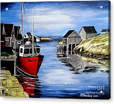 A Beautiful Day At Peggy's Cove  Acrylic Print