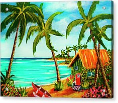 A Beautiful Day  Oahu #357 Acrylic Print by Donald k Hall