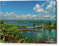A Beautiful Day Over Hilo Bay Acrylic Print