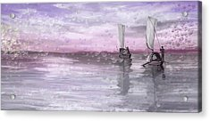 A Beautiful Morning For Fishing Acrylic Print by Angela A Stanton