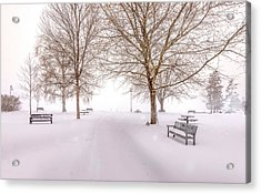 Acrylic Print featuring the photograph A Beautiful Winter's Morning  by John Poon