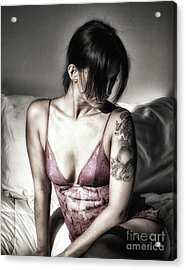 A Bedroom Portrait  Acrylic Print by ManDig Studios
