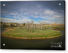 A Bend In The River Acrylic Print by Shevin Childers