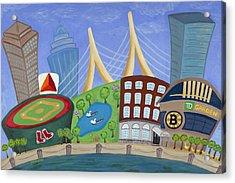 A Bit O' Boston Acrylic Print by Melissa Fassel Dunn
