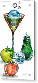A Bit Of The Bubbly Acrylic Print by Jane Loveall