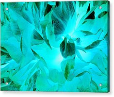 A Bloom In Turquoise Acrylic Print