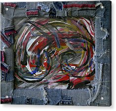 A Blue Rider Acrylic Print