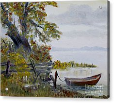 A Boat Waiting Acrylic Print