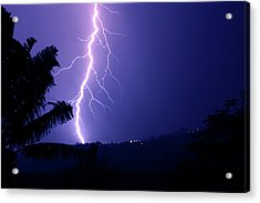 Acrylic Print featuring the photograph A Bolt From The Blue by Odille Esmonde-Morgan