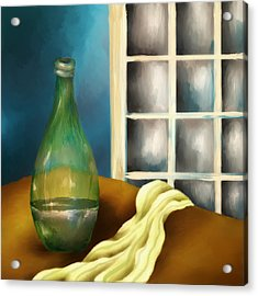 A Bottle And A Towel Acrylic Print