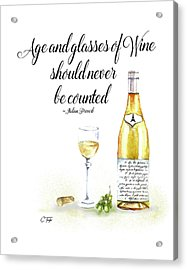 A Bottle Of White Wine Acrylic Print